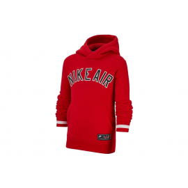 Sudadera Nike Air Long-Sleeve Fleece Top rojo niño