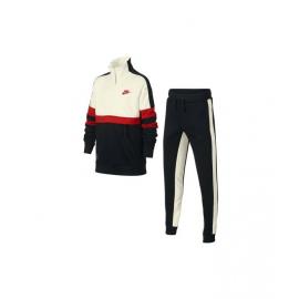 Chandal Nike Air Track Suit Cuff blanco/rojo/negro niño