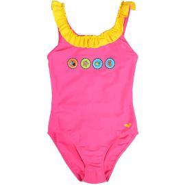 Bañador Arena Crowncaps rosa niña