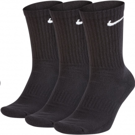 Calcetines Nike Everiday Cushion Crew 3p negro unisex