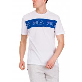 Camiseta Fila Aki Logo Tee blanca/azul hombre