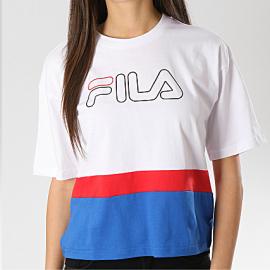 Camiseta Fila Miranda Wide blanca/roja/azul mujer