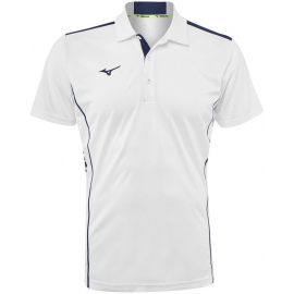 Polo tenis Mizuno Hex Rect blanco/azul hombre