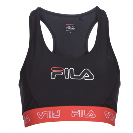 Sujetador deportivo Fila Lola negro/rojo mujer
