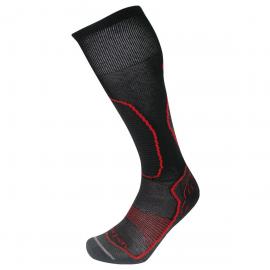 Calcetines ski Lorpen T2 Ski Thermolite negro/rojo