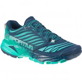 Zapatillas trail La Sportiva Akasha azul/verde mujer