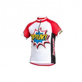 Spiuk maillot manga corta Race niño 2016 blanco/rojo
