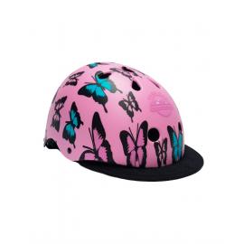 Casco protección Des park city rosa butterfly junior