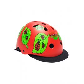 Casco protección Des park city rojo ladybug junior