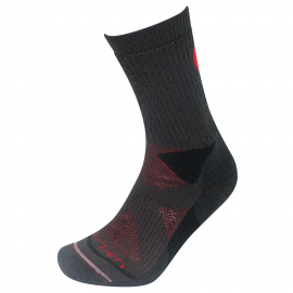 Calcetines trekking Lorpen T2 Thermolite gris/rojo