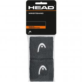 """Muñequera tenis/pádel Head Wristband 2.5"""" antracita"""