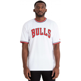 Camiseta New Era NBA Tipping Wordmark Bulls blanca hombre