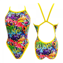 Bañador Entrenamiento Turbo Swimsuit Graffiti Mujer