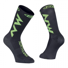 Calcetin Northwave Extreme Air negro-verde fluo