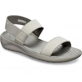 Sandalias Crocs LiteRide gris mujer