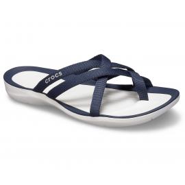Chanclas Crocs Swiftwater Webbing azul/blanca mujer