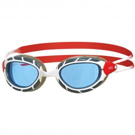 Gafas natación Zoggs Predator blanca/roja/tintada
