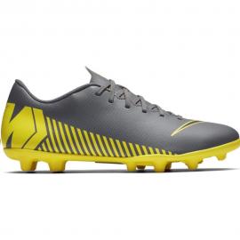Zapatillas fútbol Nike Vaporx 12 Club MG gris hombre