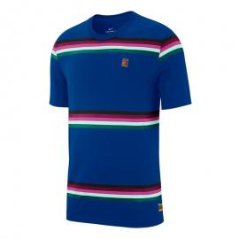 Camiseta tenis Nike Club Heritage Stripe azul/multi hombre