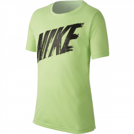 Camiseta Nike Dry Top lima/negro junior