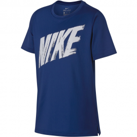 Camiseta Nike Dry Top azul/blanco junior