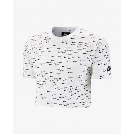 Camiseta Nike Essential Top Crop blanca mujer
