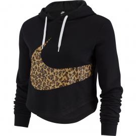 Sudadera Nike Crop Animal negra mujer