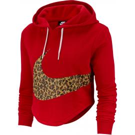 Sudadera Nike Crop Animal roja mujer