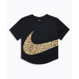 Camiseta Nike Top Crop Animal negra mujer