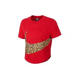 Camiseta Nike Top Crop Animal roja mujer