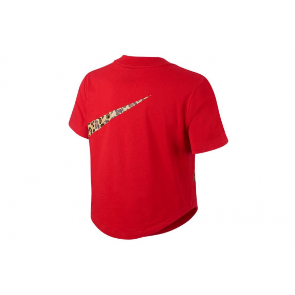 siempre popular gran calidad gran venta Camiseta Nike Top Crop Animal roja mujer - Deportes Moya
