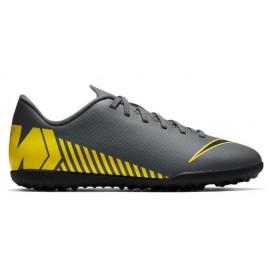Botas fútbol Nike MercurialX Vapor XII Club GS TF gris jr
