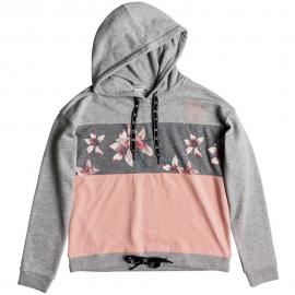 Sudadera Roxy Inside Cocoon fleece gris/rosa mujer