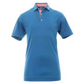 Polo golf Footjoy Smth Piq azul hombre
