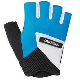 Guantes cortos Shimano Airway azul