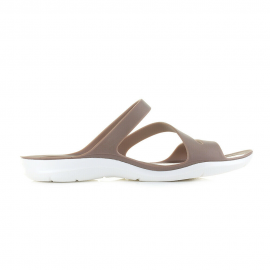 Sandalias Crocs Swifwater marrón/blanco mujer