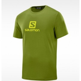 Camiseta outdoor Salomon Blend logo verde hombre
