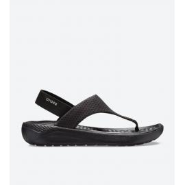 Sandalias Crocs LiteRide Mesh Flip negra mujer