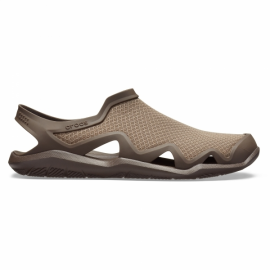 Sandalias Crocs Swiftwater Mesh Wave marrón hombre