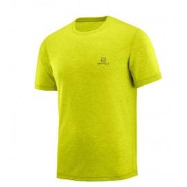 Camiseta senderismo Salomon Explore amarillo hombre
