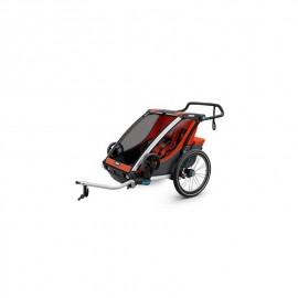Carrito Thule Chariot Cross 2 + Kit Bicicleta Naranja