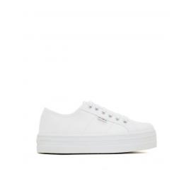 Zapatillas lona Victoria Plataforma 109200 blanca mujer