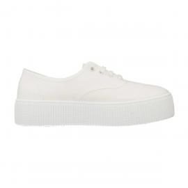 Zapatillas lona Victoria Plataforma 1116100 blanca mujer
