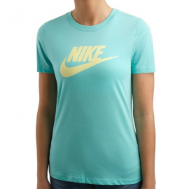 Camiseta Nike Essential Icon Futura verde mujer