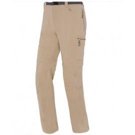 Pantalon desmontable Trango Idha beige mujer