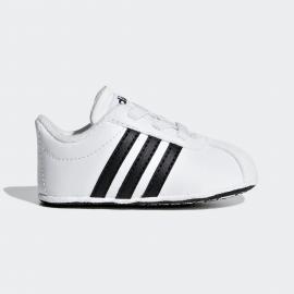 Zapatillas adidas VL Court 2.0 Crib blanco/negro bebé