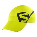 Gorra running Salomlon Xa Cap verde fluor