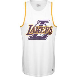 Camiseta New Era NBA Double Logo Tank Lakers blanca hombre