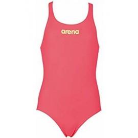 Bañador Arena Solid Swim pro rojo fluor niña
