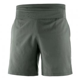Pantalón corto running Salomon Xa Training verde hombre